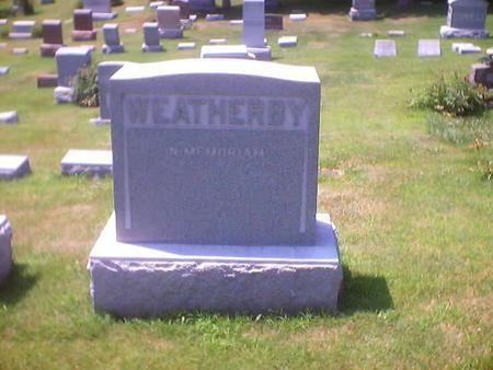 WEATHERBY, MAIN STONE - Polk County, Iowa   MAIN STONE WEATHERBY