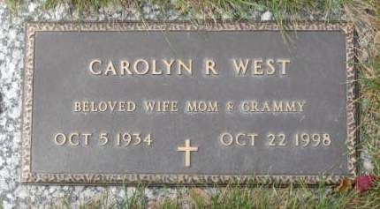 WEST, CAROLYN  R. - Polk County, Iowa   CAROLYN  R. WEST