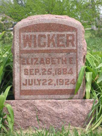 WICKER, ELIZABETH E. - Polk County, Iowa | ELIZABETH E. WICKER