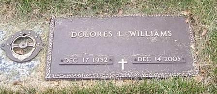 WILLIAMS, DOLORES L. - Polk County, Iowa   DOLORES L. WILLIAMS