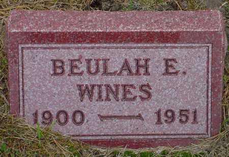 WINES, BEULAH E. - Polk County, Iowa | BEULAH E. WINES