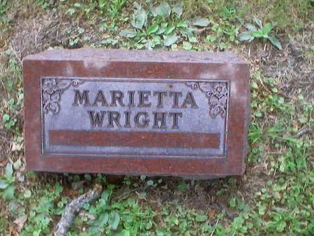 WRIGHT, MARIETTA / MARY ETTA. - Polk County, Iowa | MARIETTA / MARY ETTA. WRIGHT