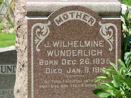 WUNDERLICH, J. WILHELMINE - Polk County, Iowa | J. WILHELMINE WUNDERLICH