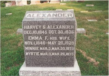 ALEXANDER, HARVEY S - Pottawattamie County, Iowa | HARVEY S ALEXANDER