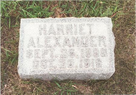 ALEXANDER, HARRIET FRANCES - Pottawattamie County, Iowa | HARRIET FRANCES ALEXANDER