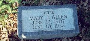 ANDREWS ALLEN, MARY JANE - Pottawattamie County, Iowa | MARY JANE ANDREWS ALLEN