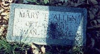 ALLEN, MARY ELIZABETH - Pottawattamie County, Iowa | MARY ELIZABETH ALLEN