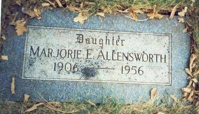 ALLENSWORTH, MARJORIE E. - Pottawattamie County, Iowa | MARJORIE E. ALLENSWORTH