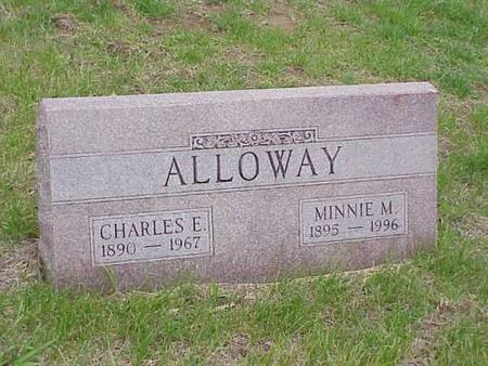 ALLOWAY, CHARLES E. & MINNIE M. - Pottawattamie County, Iowa | CHARLES E. & MINNIE M. ALLOWAY