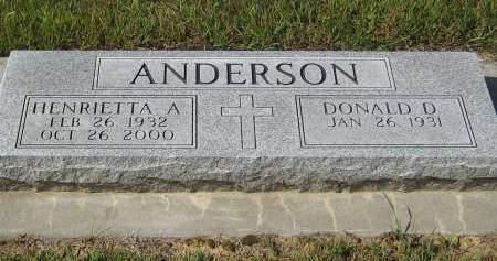 ANDERSON, HENRIETTA A. - Pottawattamie County, Iowa | HENRIETTA A. ANDERSON