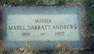 HARDING ANDREWS, MABEL SARRATT - Pottawattamie County, Iowa | MABEL SARRATT HARDING ANDREWS
