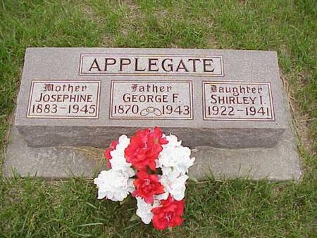 APPLEGATE, GEORGE F., JOSEPHINE & SHIRLEY - Pottawattamie County, Iowa | GEORGE F., JOSEPHINE & SHIRLEY APPLEGATE
