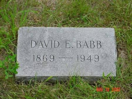 BABB, DAVID E. - Pottawattamie County, Iowa | DAVID E. BABB