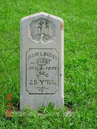 BAILEY, FRANK L. - Pottawattamie County, Iowa | FRANK L. BAILEY
