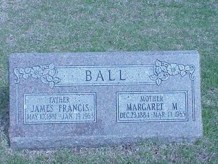 BALL, JAMES FRANCIS & MARGARET M. - Pottawattamie County, Iowa | JAMES FRANCIS & MARGARET M. BALL