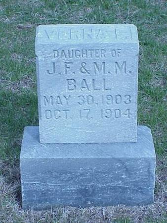 BALL, VERNA L. - Pottawattamie County, Iowa | VERNA L. BALL