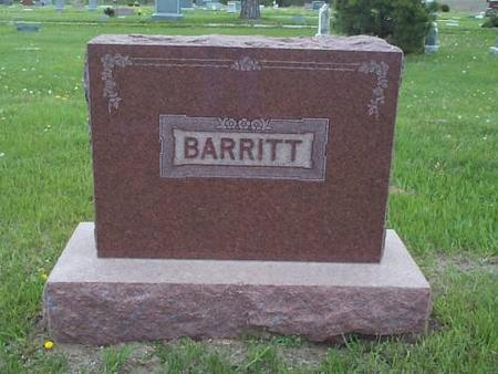 BARRITT, FAMILY MARKER - Pottawattamie County, Iowa | FAMILY MARKER BARRITT