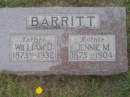 BARRITT, WILLIAM O., AND JENNIE M. - Pottawattamie County, Iowa | WILLIAM O., AND JENNIE M. BARRITT
