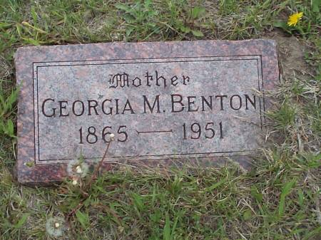 BENTON, GEORGIA M. - Pottawattamie County, Iowa | GEORGIA M. BENTON