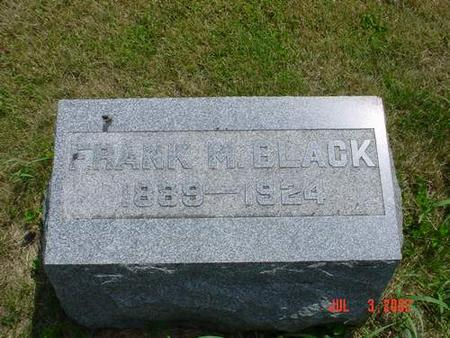 BLACK, FRANK M. - Pottawattamie County, Iowa | FRANK M. BLACK