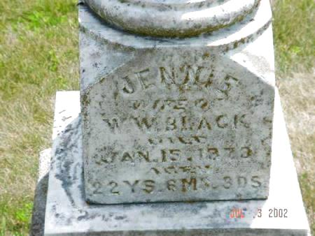 BLACK, JENNIE - Pottawattamie County, Iowa | JENNIE BLACK