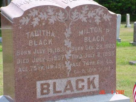 BLACK, MILTON P. - Pottawattamie County, Iowa | MILTON P. BLACK