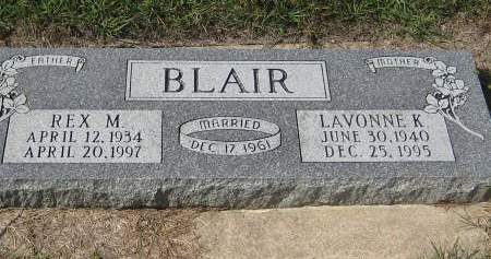 BLAIR, LAVONNE K. - Pottawattamie County, Iowa   LAVONNE K. BLAIR