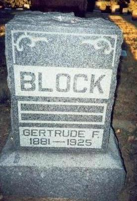 BLOCK, GERTRUDE F. - Pottawattamie County, Iowa | GERTRUDE F. BLOCK