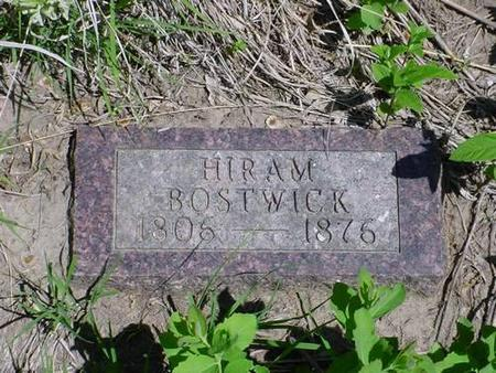 BOSTWICK, HIRAM - Pottawattamie County, Iowa | HIRAM BOSTWICK