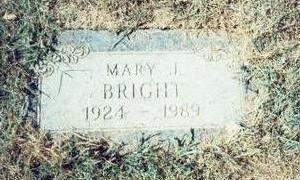 BRIGHT, MARY J. - Pottawattamie County, Iowa | MARY J. BRIGHT