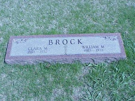 BROCK, CLARA M. & WILLIAM M. - Pottawattamie County, Iowa | CLARA M. & WILLIAM M. BROCK