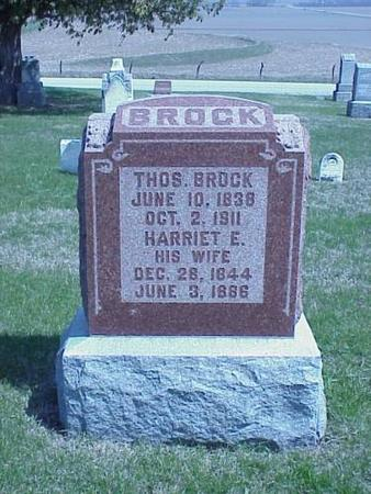 BROCK, THOMAS & HARRIET E. - Pottawattamie County, Iowa | THOMAS & HARRIET E. BROCK