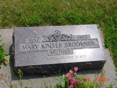 BROOKNER, MARY KINSER - Pottawattamie County, Iowa | MARY KINSER BROOKNER