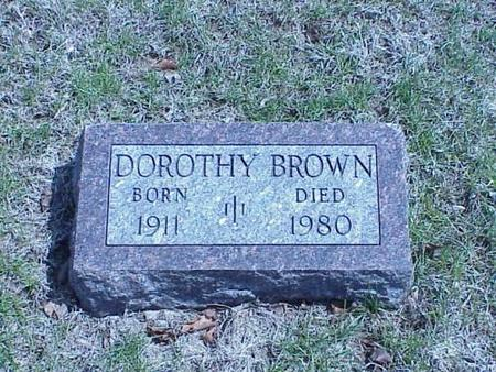 BROWN, DOROTHY - Pottawattamie County, Iowa | DOROTHY BROWN