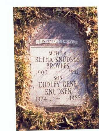 KNUDSEN, DUDLEY GENE - Pottawattamie County, Iowa | DUDLEY GENE KNUDSEN