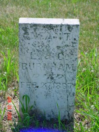 BURNHAM, INFANT SON - Pottawattamie County, Iowa | INFANT SON BURNHAM