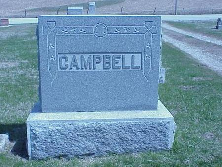 CAMPBELL, HEADSTONE - Pottawattamie County, Iowa | HEADSTONE CAMPBELL