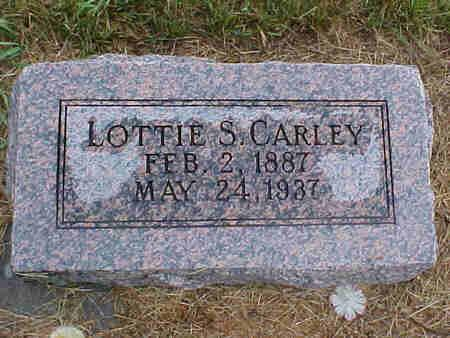 DYE CARLEY, LOTTIE - Pottawattamie County, Iowa | LOTTIE DYE CARLEY