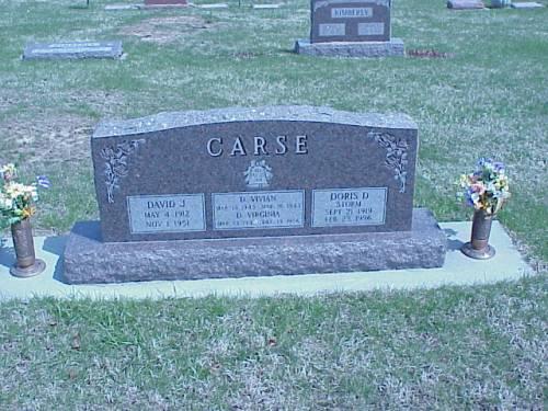 CARSE, DONALD J., D. VIRGINIA, D. VIVIAN, DORIS D. STORM - Pottawattamie County, Iowa | DONALD J., D. VIRGINIA, D. VIVIAN, DORIS D. STORM CARSE
