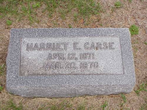 CARSE, HARRIETT E. - Pottawattamie County, Iowa | HARRIETT E. CARSE