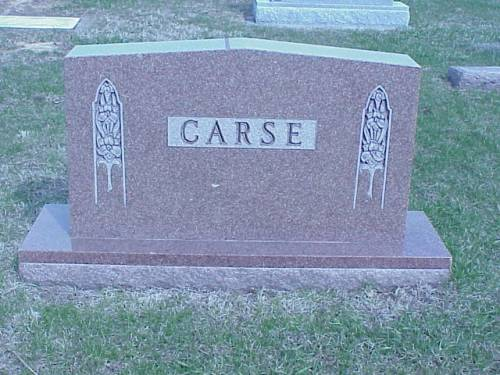 CARSE, HEADSTONE - Pottawattamie County, Iowa | HEADSTONE CARSE