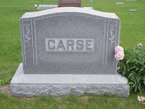 CARSE, JAMES W. & BELLE - Pottawattamie County, Iowa   JAMES W. & BELLE CARSE