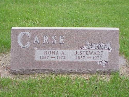 CARSE, NONA A. & J. STEWART - Pottawattamie County, Iowa | NONA A. & J. STEWART CARSE