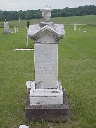 CARTER, SARAH A. - Pottawattamie County, Iowa | SARAH A. CARTER