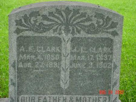 CLARK, A. E. & J. L INSCRIPTION - Pottawattamie County, Iowa | A. E. & J. L INSCRIPTION CLARK
