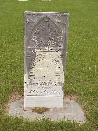 CLARK, FLORENCE VIRGINIA - Pottawattamie County, Iowa   FLORENCE VIRGINIA CLARK