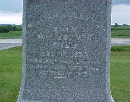 CLAYTON, WILLIAM N. - Pottawattamie County, Iowa | WILLIAM N. CLAYTON
