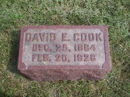COOK, DAVID E. - Pottawattamie County, Iowa | DAVID E. COOK