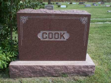 COOK, FAMILY MARKER - Pottawattamie County, Iowa | FAMILY MARKER COOK
