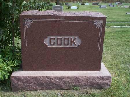COOK, FAMILY MARKER - Pottawattamie County, Iowa | FAMILY MARKER COOK